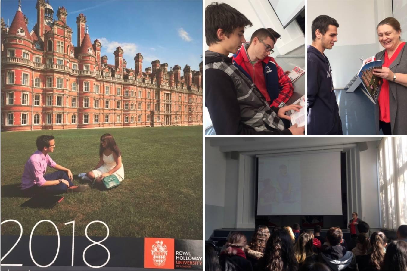 Посещение на Royal Holloway, University of London в Международно училище Златарски