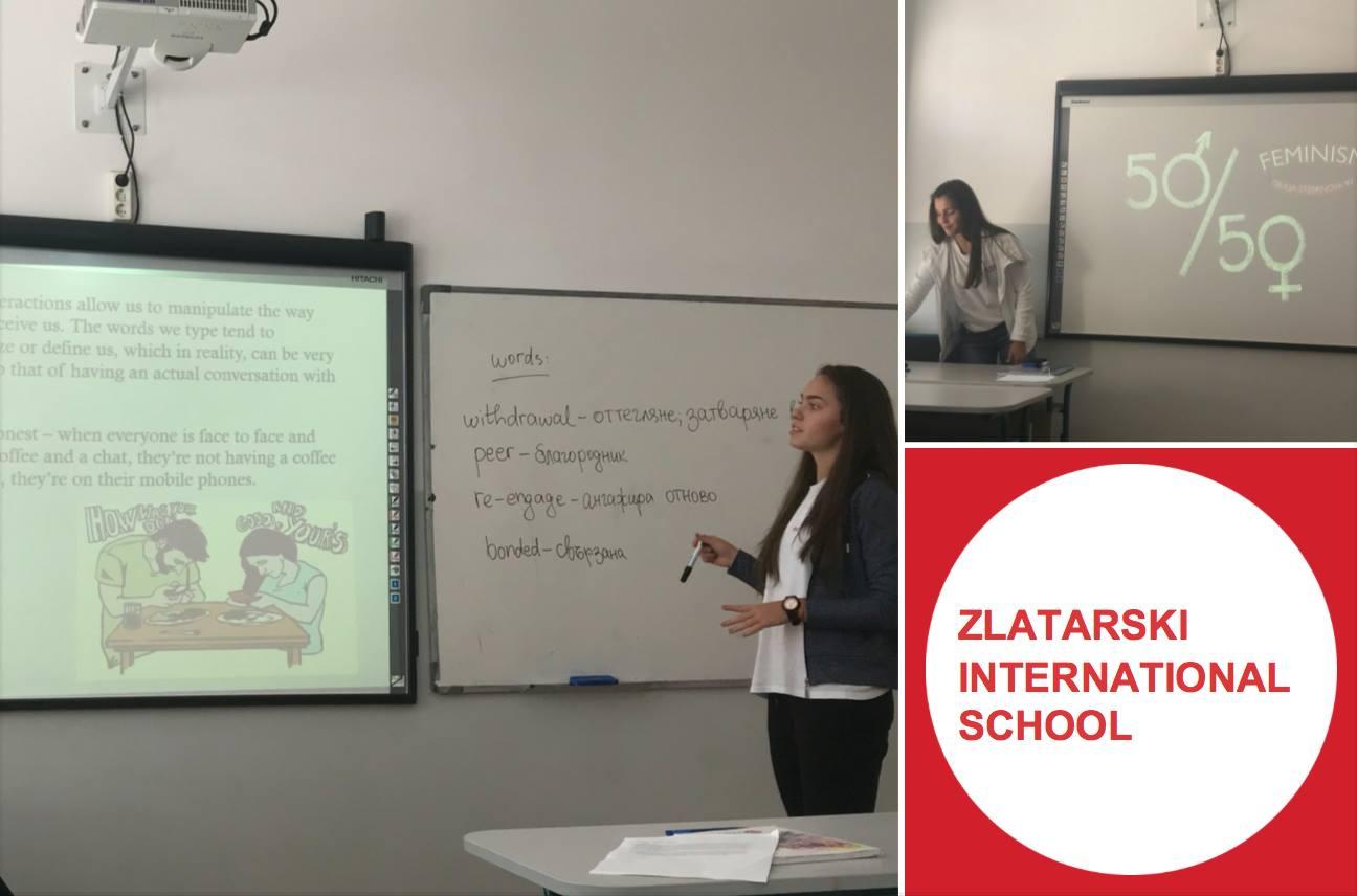 Презентации в часовете по английски език в Международна гимназия Златарски
