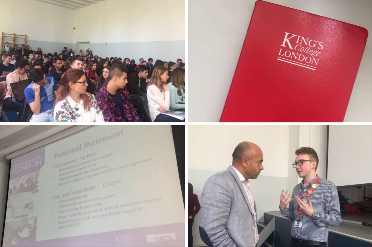 King's College London и University College London посетиха Международна гимназия Златарски