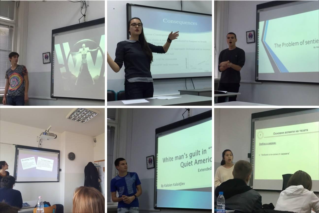 Учениците от 12. клас на Международно училище Златарски представят своите дипломни работи и проекти по литература, английски език, история и икономика