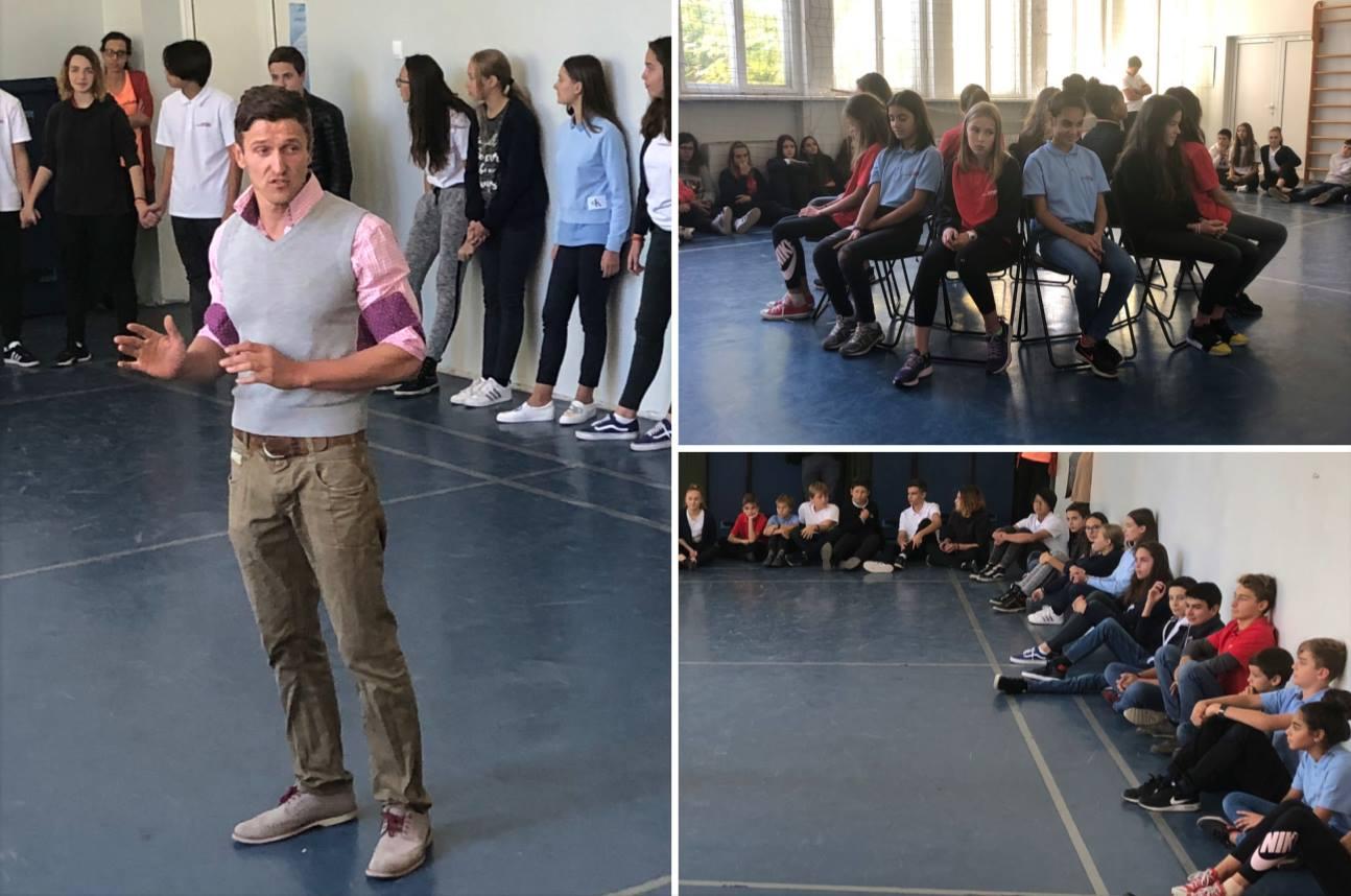 """Учениците от Клуба по Театрални изкуства на Международно училище Златарски се готвят за """"Златарски търси Талант"""""""