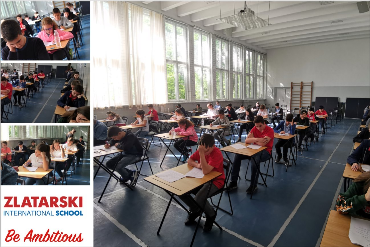 Учениците от 5-7 клас в програмата Cambridge Secondary държат финални тестове