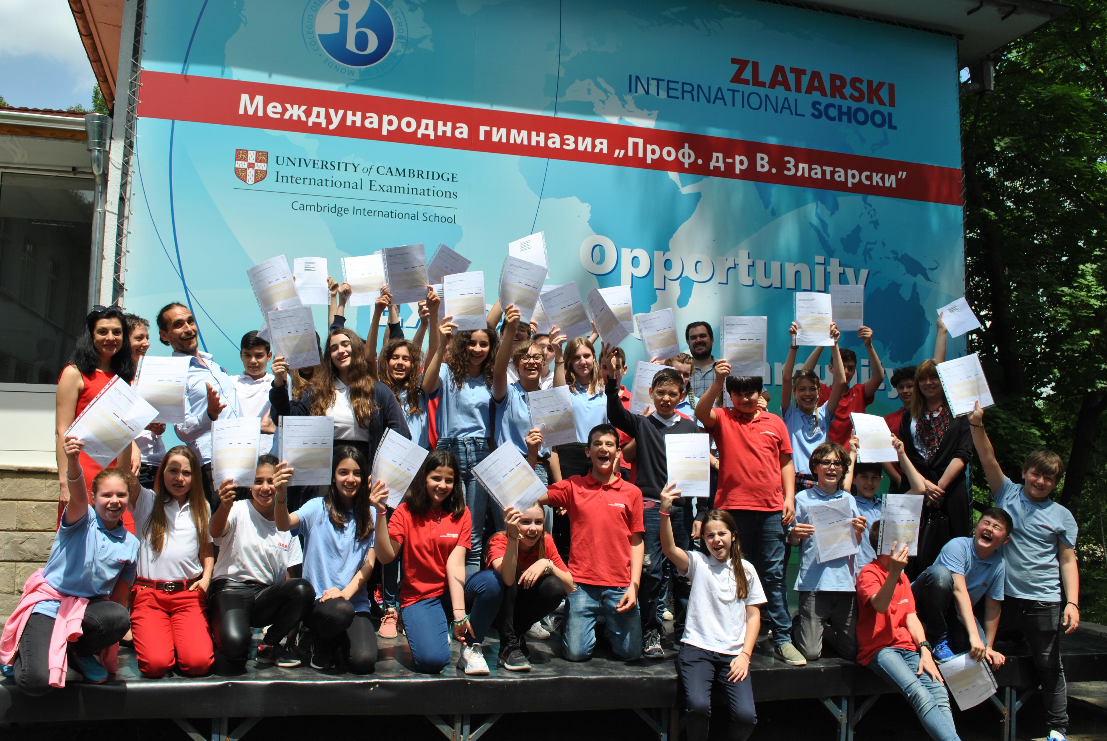 Успешни резултати на Cambridge Secondary на учениците от 5-7. клас на Международно училище Златарски
